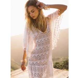 Other - Sexy Lace Angel Boho Fringe Beach Coverup Dress